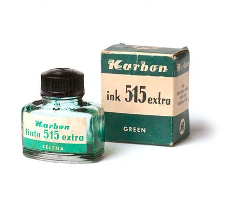 Karbon, zelena tinta 515 extra za naliv-pera u kutiji